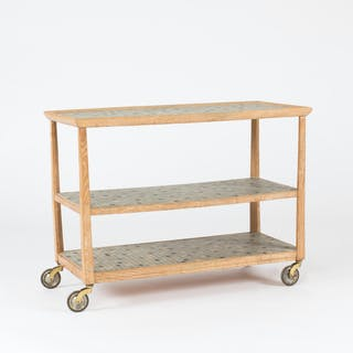 Bar trolley with mosaic tiles by Otto Schulz