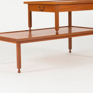 Mahogny side table with drawer by Josef Frank