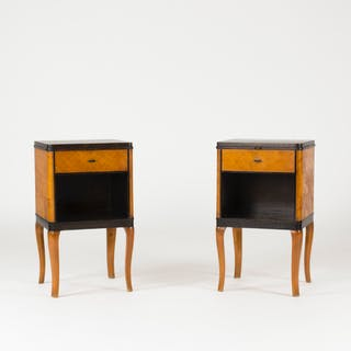 "Pair of ""Haga"" bedside tables by Carl Malmsten"