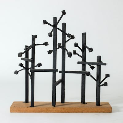 Metal sculpture by Fred Leyman