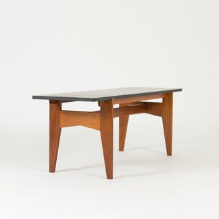 Teak and marble coffee table by Hans-Agne Jakobsson