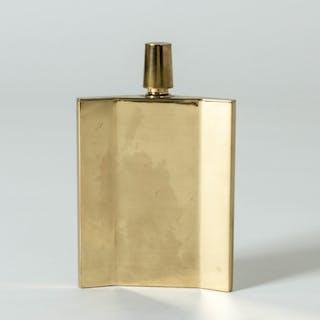 Brass flask by Pierre Forssell