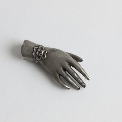 Pewter hand keepsake by Estrid Ericson