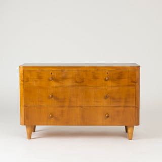 Elmwood chest of drawers by Axel Larsson
