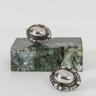 Pair of silver earrings from Georg Jensen