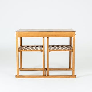 """The Sled"" nesting table by Carl Malmsten"