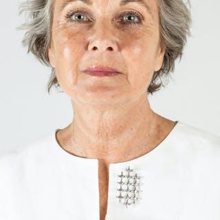 Silver brooch by Marianne Berg
