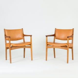 "Pair of ""JH 525"" armchairs by Hans J. Wegner"