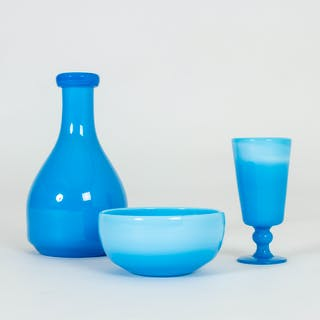 Set of three glass vessels by Erik Höglund