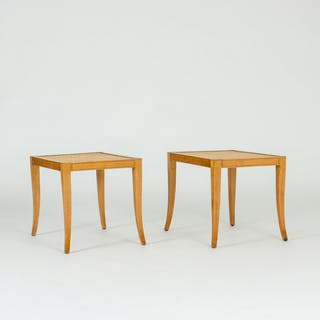 Pair of rattan stools by Frits Henningsen