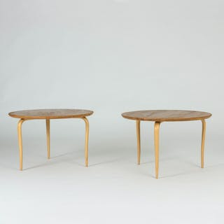 "Pair of ""Annika"" side tables by Bruno Mathsson"