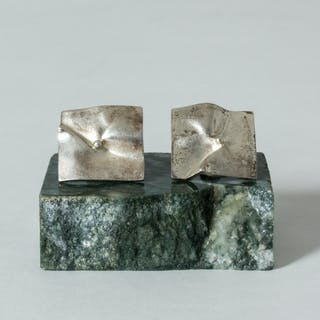 Pair of silver earrings by Björn Weckström