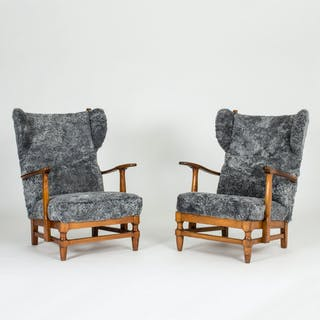 Pair of lounge chairs by Gunnar Göperts