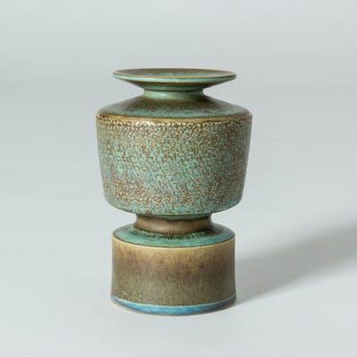 Unique stoneware vase by Stig Lindberg