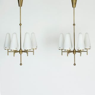 Pair of chandeliers by Hans-Agne Jakobsson