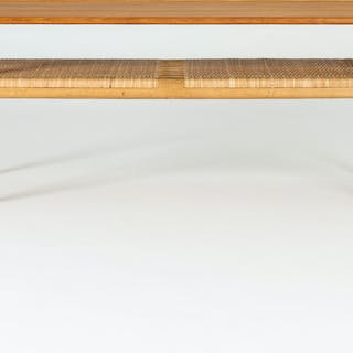 Teak and rattan coffee table by Hans J. Wegner