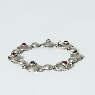 Silver and amethyst bracelet from Pinco