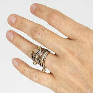 Set of three stacking rings by Theresia Hvorslev