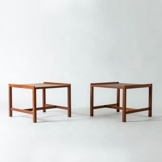 Pair of teak side tables by Karl-Erik Ekselius