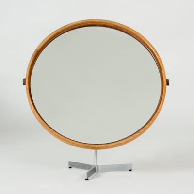 Oak table mirror by Uno and Östen Kristiansson