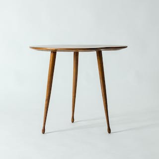 Swedish 1950s side table with inlays