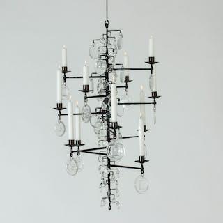 Candle chandelier by Erik Höglund