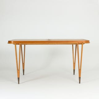 Teak dining table by Bertil Fridhagen