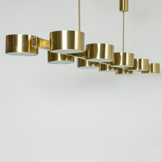 Brass chandelier by Hans-Agne Jakobsson – on hold