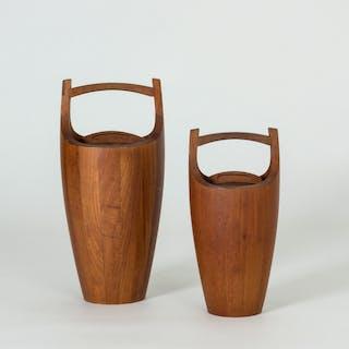 Pair of teak ice buckets by Jens Quistgaard