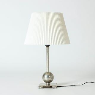 Pewter table lamp by Einar Bäckström