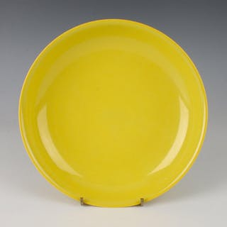 BRIGHT YELLOW CHINESE PORCELAIN BOWL