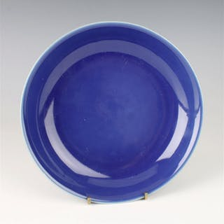 CHINESE PORCELAIN LOW BLUE BOWL
