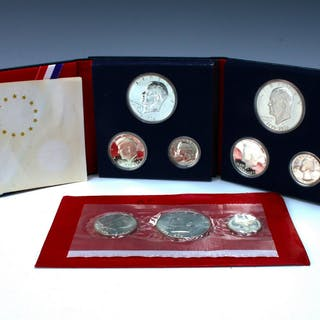 THREE SILVER UNCIRCULATED BICENTENNIAL PROOF SETS