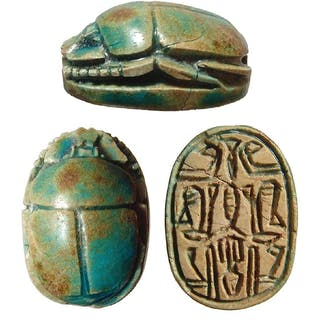 A lovely Egyptian steatite scarab, Middle Kingdom