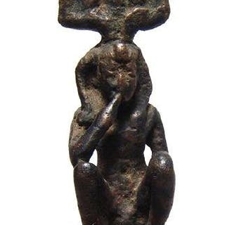 A rare Egyptian bronze depiction of Harpokrates