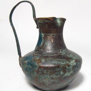 A nice Roman bronze trefoil olpe