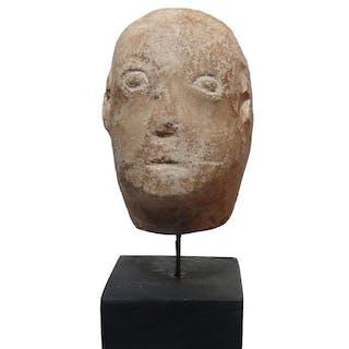 A Celtic limestone head of male
