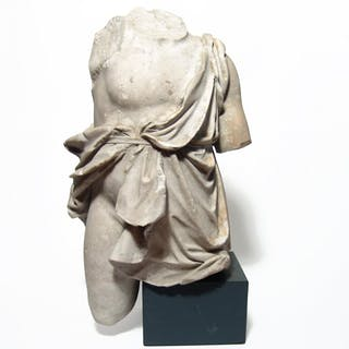 A fantastic Roman marble torso of a youth