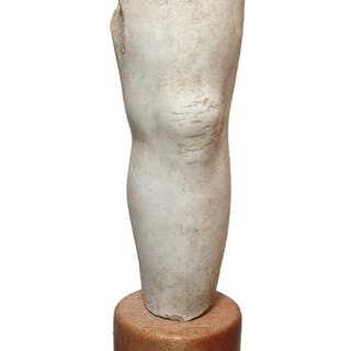 A Roman marble leg fragment from a statue