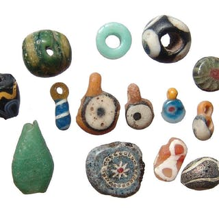 A fantastic lot of miniature ancient glass beads