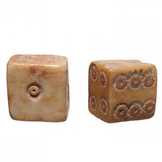 A pair of Roman bone dice