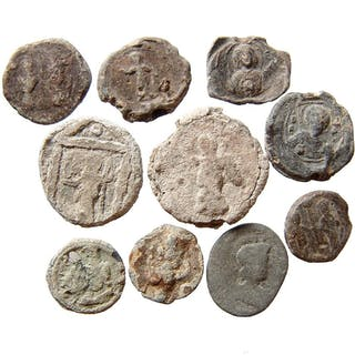 10 Roman & Byzantine lead bullae and tokens