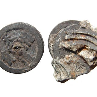 Two clusters of coins from the Song Dynasty