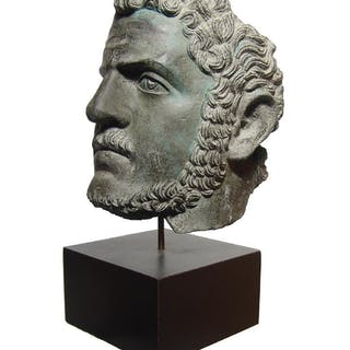 Replica of the fragmentary bronze portrait of Caracalla