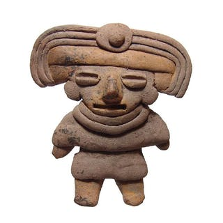 Attractive Michoacan figure of a standing woman
