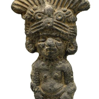 A choice Toltec figure from Mexico