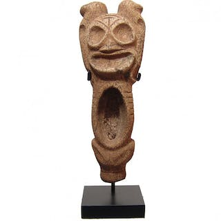 A gorgeous Taino bone anthropic snuffing vessel