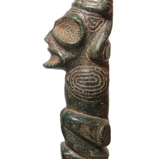 A small Taino cohoba stand or snuffing table