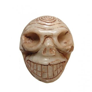 A beautiful Taino translucent marble skull