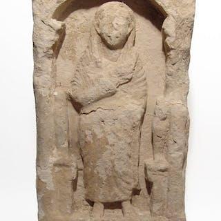 A splendid Roman limestone funerary stele